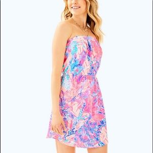 Lilly Pulitzer Windsor strapless dress M